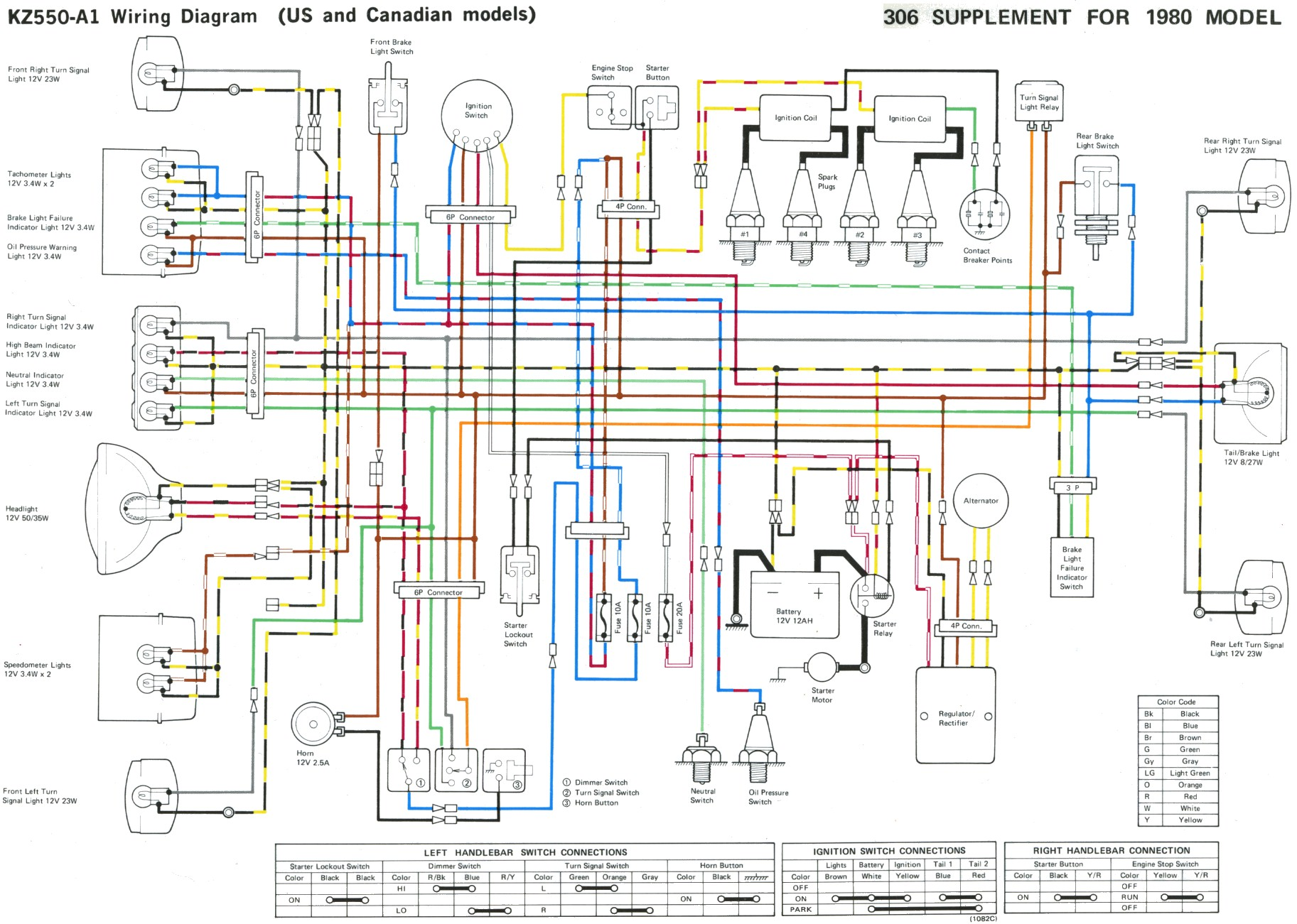 kz400 simple wiring diagram some kz 400/500/550 wire diagrams