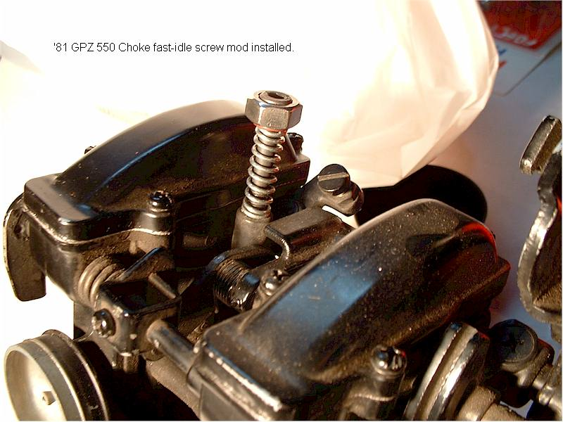 Fast-Idle Screw Mod for TK-22 Carbs